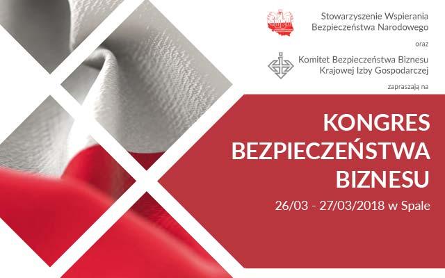 Kongres Bezpieczeństwa Biznesu 26.03 – 27.03.2018, Spała