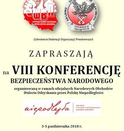 VIII Konferencja Bezpieczeństwa Narodowego