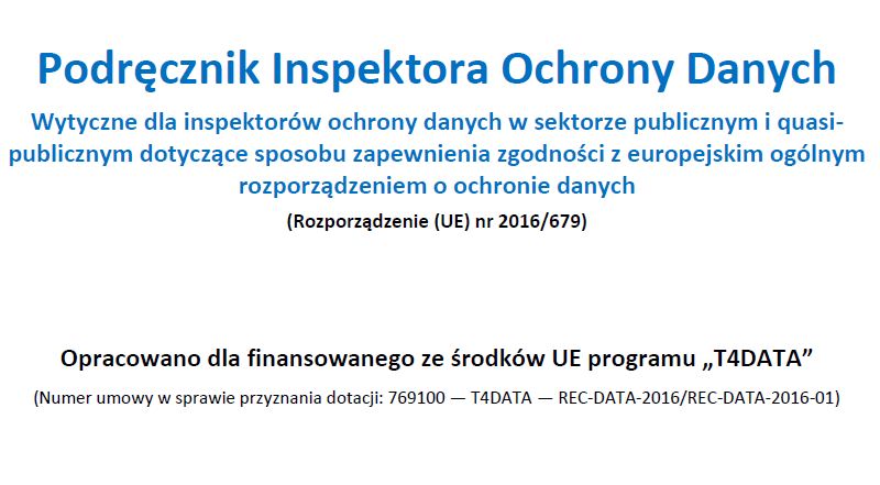 Okładka Podręcznika Inspektora Ochrony Danych